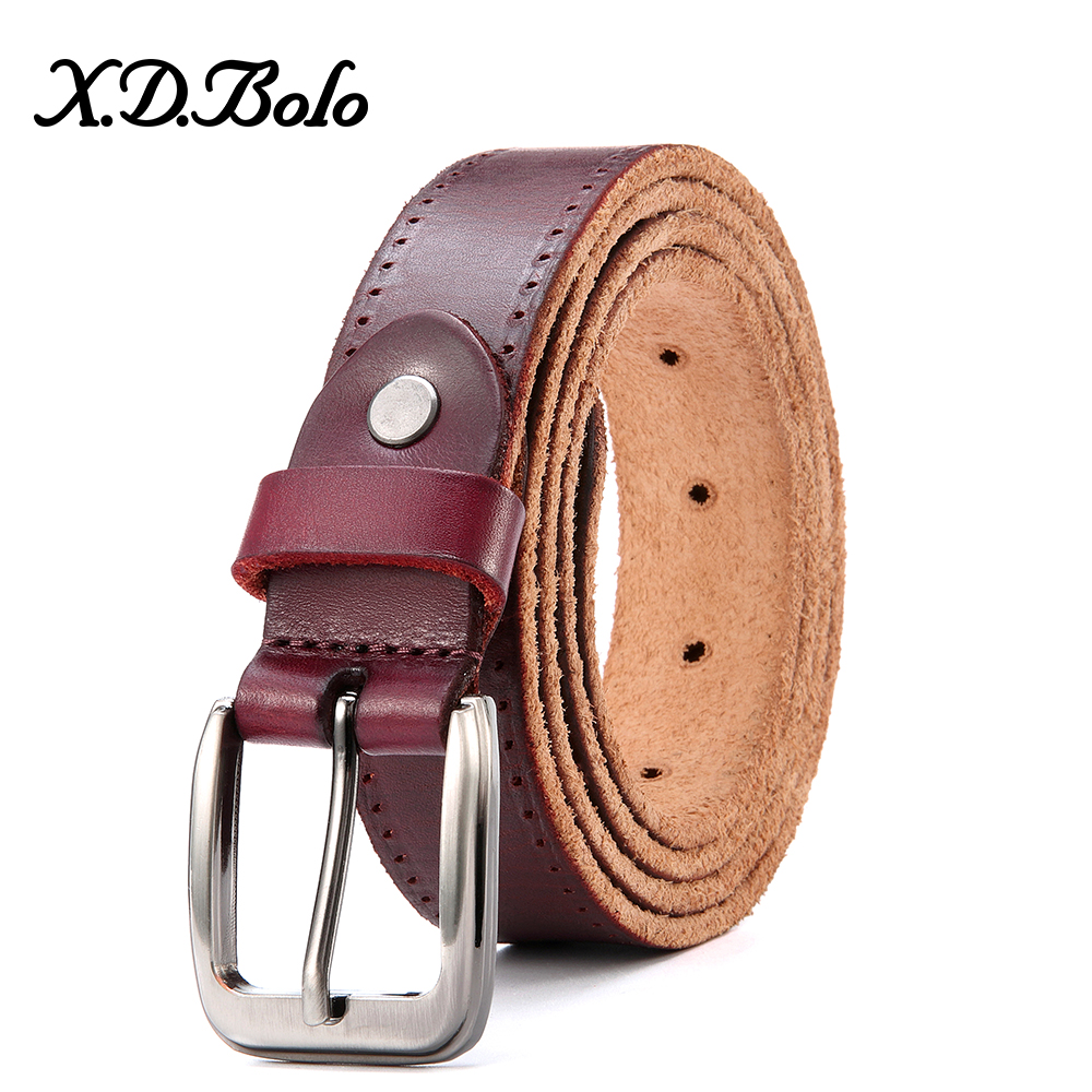 XDBOLO Fashion Female Belt Leather Pin Buckle Belt Genuine Leather Women's Belt High Quality Woman Belts Leather Strap Gift