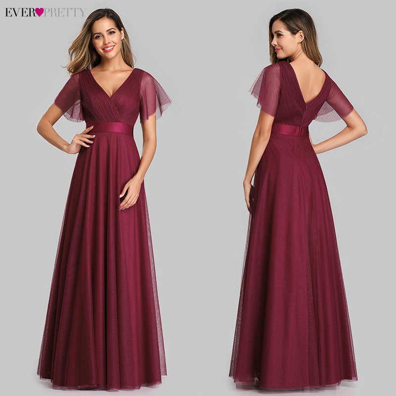 Платье для выпускного бала Ever Pretty EP07962, синее, с треугольным вырезом, длинное, Формальное, летнее, вечернее платье большого размера 2020