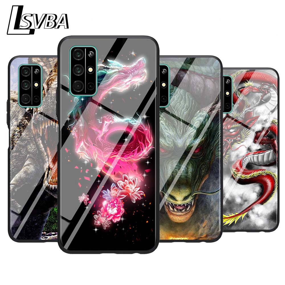 For Huawei <font><b>Honor</b></font> 9A 9C 9S 9X Lite Phone <font><b>Case</b></font> dragon dinosaurs Animal for <font><b>Honor</b></font> 30 Pro Plus 20S 8A 8C 8S 87 7C <font><b>7S</b></font> <font><b>Silicone</b></font> Cover image