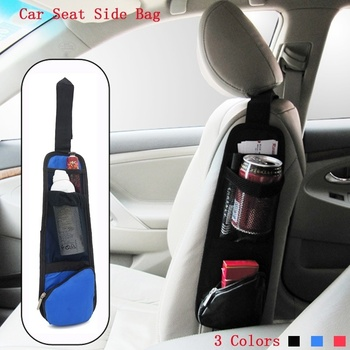Car Styling Seat Side Hanging Pocket Bags Organizer Nylon Sundries Stowing Tidying Holder Interior Accessories