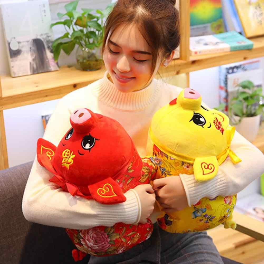 2019 китайский новый год талисман мультфильм свинья плюшевая кукла благословение подарок сувенир Декор