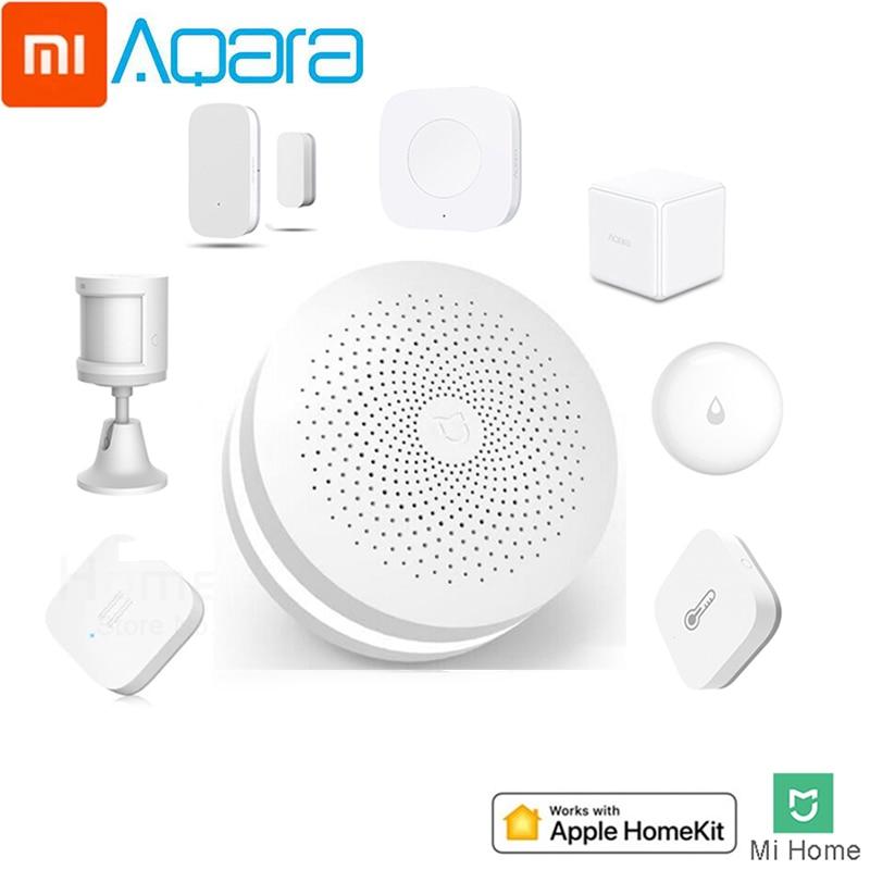 Xiaomi Aqara Smart Home Kit Water Sensor Mijia Hub Humidity Sensor Zigbee Socket Body Sensor Air Conditioning Smart App Control