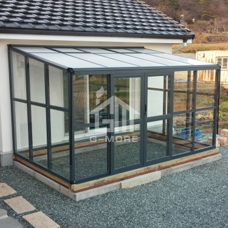 Four season outdoor belcony aluminum frame greenhouse sunroom kit hot planter house