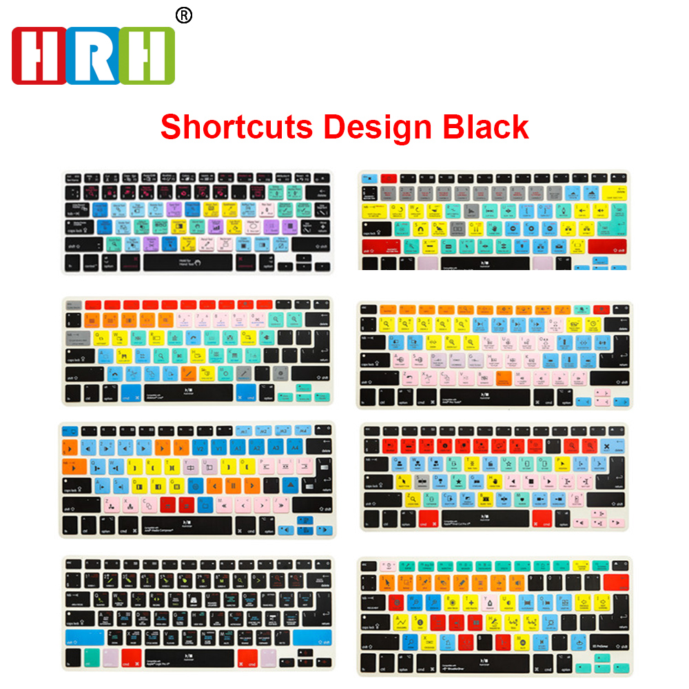 HRH Slim Ableton Live Logic Pro X Avid Pro Tools Shortcut Keyboard Cover Skin For Macbook Pro Air Retina 13 15 17 Before 2016 image