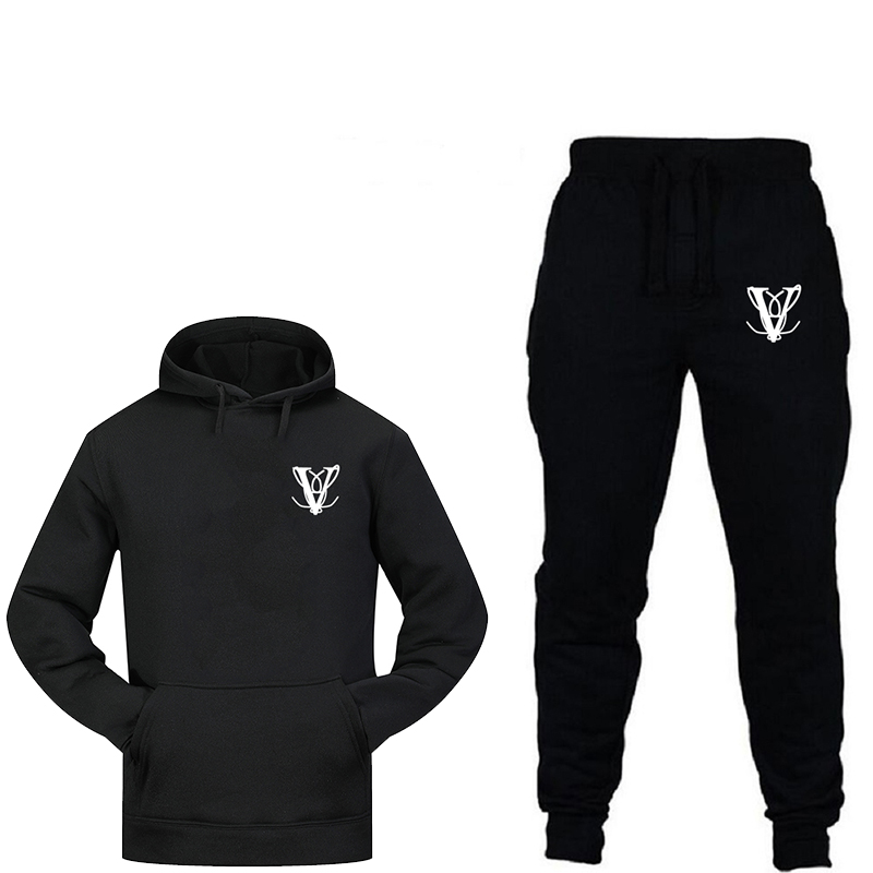 2019 New Fashion Sweatshirt With Men's Thermal Sportswear Printed Sportswear Jogging Sports Pants Suit