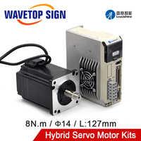 Leadshine Hybrid Servo Driver H2-758 Motor 86HSM80-E1 Torque 8N.m+Cable 8meter
