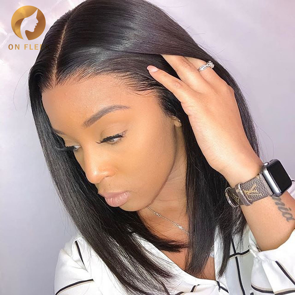 Lace Front Human Hair Wigs Straight Short Human Hair Wigs Bob Wig Brazilian Hd Lace Frontal Wig For Black Women Remy Hair 13x4