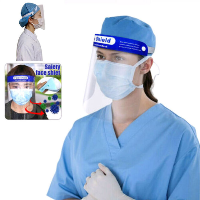 In stock now Protection Hat Anti Saliva Clear Hat Full Face Shield Full Face Isolation 2