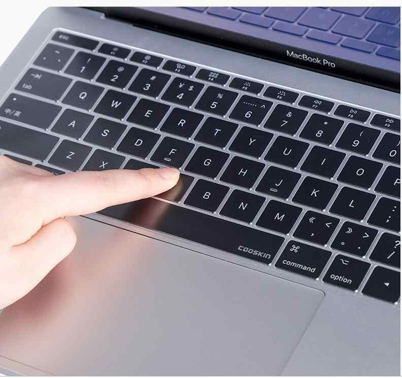 Couverture de clavier d'ordinateur portable pour MacBook Air Pro 11 12 13 15 17 pouces Retina barre tactile ordinateur portable peau de protection