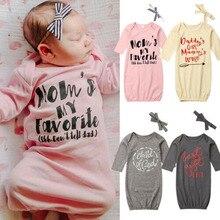 Пеленальное Одеяло для новорожденных девочек с надписью; спальный мешок с длинными рукавами+ повязка на голову; комплект одежды
