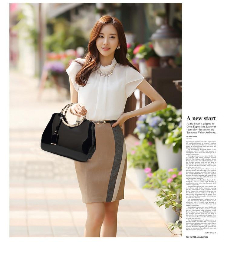 New Fashion Glossy Patent Leather Women's Bag Messenger Bag One Shoulder Handbag