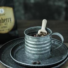 Copo de ferro de metal vaso de ferro forjado pote de leite pequeno estilo industrial retro rústico ainda vida comida fotografia adereços