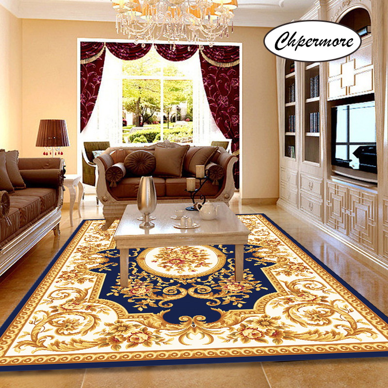 Chpermore European Retro Court Large Carpets Non-slip Tatami Mats Bedroom Home Lving Room Rug Floor Rugs