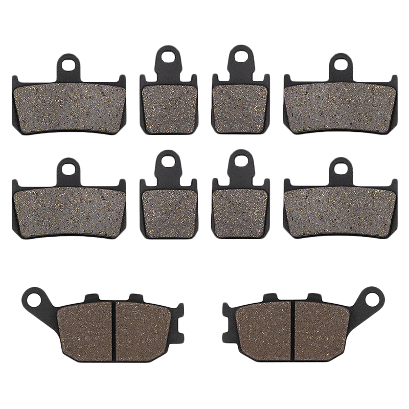 Cyleto Motorcycle Front and Rear Brake Pads for Yamaha YZFR1 YZF-R1 YZF R1 2007 <font><b>2008</b></font> 2009 2010 2011 2012 2013 2014 image