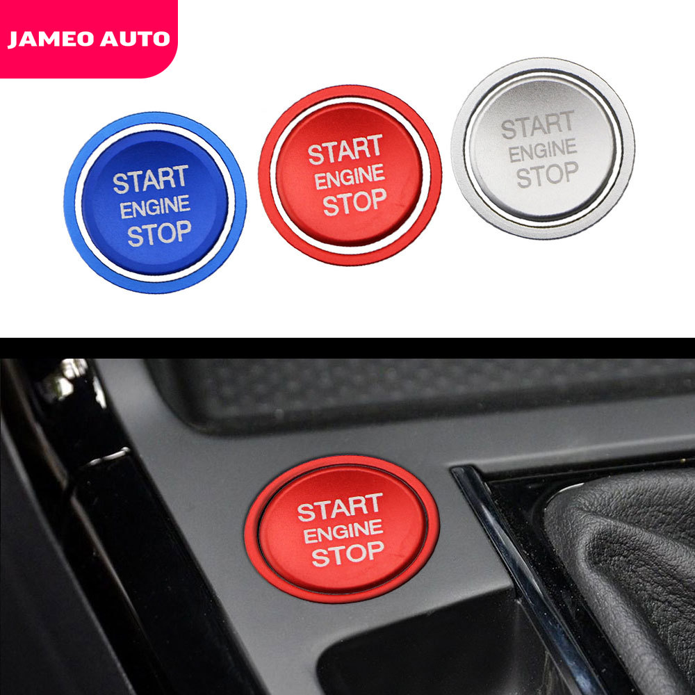 2Pcs/Set Car Engine Start Stop Button Ring Ignition Device Circle Trim Cover For VW Golf 7 MK7 GTI R Jetta Arteon Passat B8