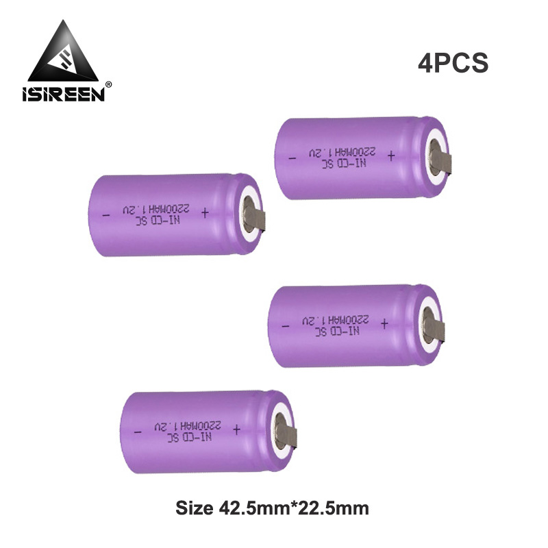 SC Ni-CD Rechargeable <font><b>Battery</b></font> Cells 1.2V <font><b>2200mAh</b></font> DIY <font><b>Battery</b></font> Packs Subc Ni CD Accumulator Electric Tools 7.2V 12V <font><b>14.4V</b></font> image