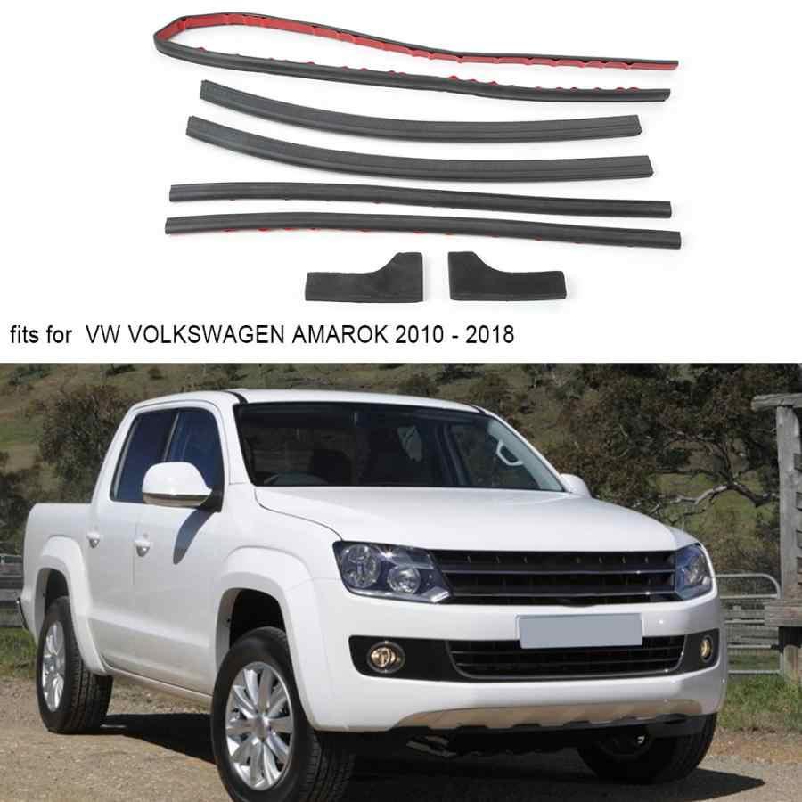 7 個の車のスタイリングゴムテールゲートシールキットリアドアストリップシール vw amarok の 2010 - 2018 のために適合