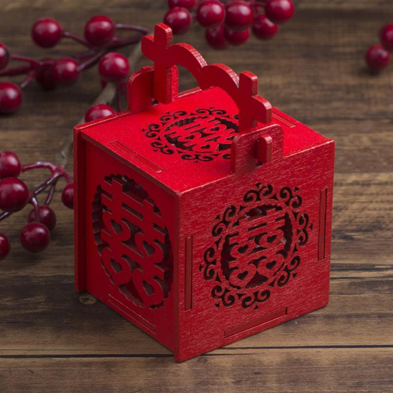 12PCS Hollow Cube Adorable Transparent Sweets Candy Box Party Favours Treats Hot