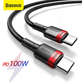 Baseus USB Typ C Auf USB Typ C Kabel 5A 60W/100W PD Quick Charge 4,0 Typ-c Kabel Für Samsung Xiaomi Redmi Hinweis 10 Pro Macbook