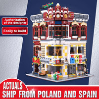 Creator series the Toys and Bookstore Model Building Blocks set classic MOC Compatible Lepinbrick Architecture Toys for children