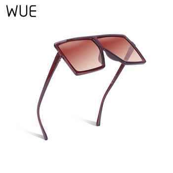 WUE 2019 NEW Fashion Sunglasses Women Square Luxury Brand Big Black Sun Glasses Female Mirror Shades Ladies Lunette Femme Oculos 10