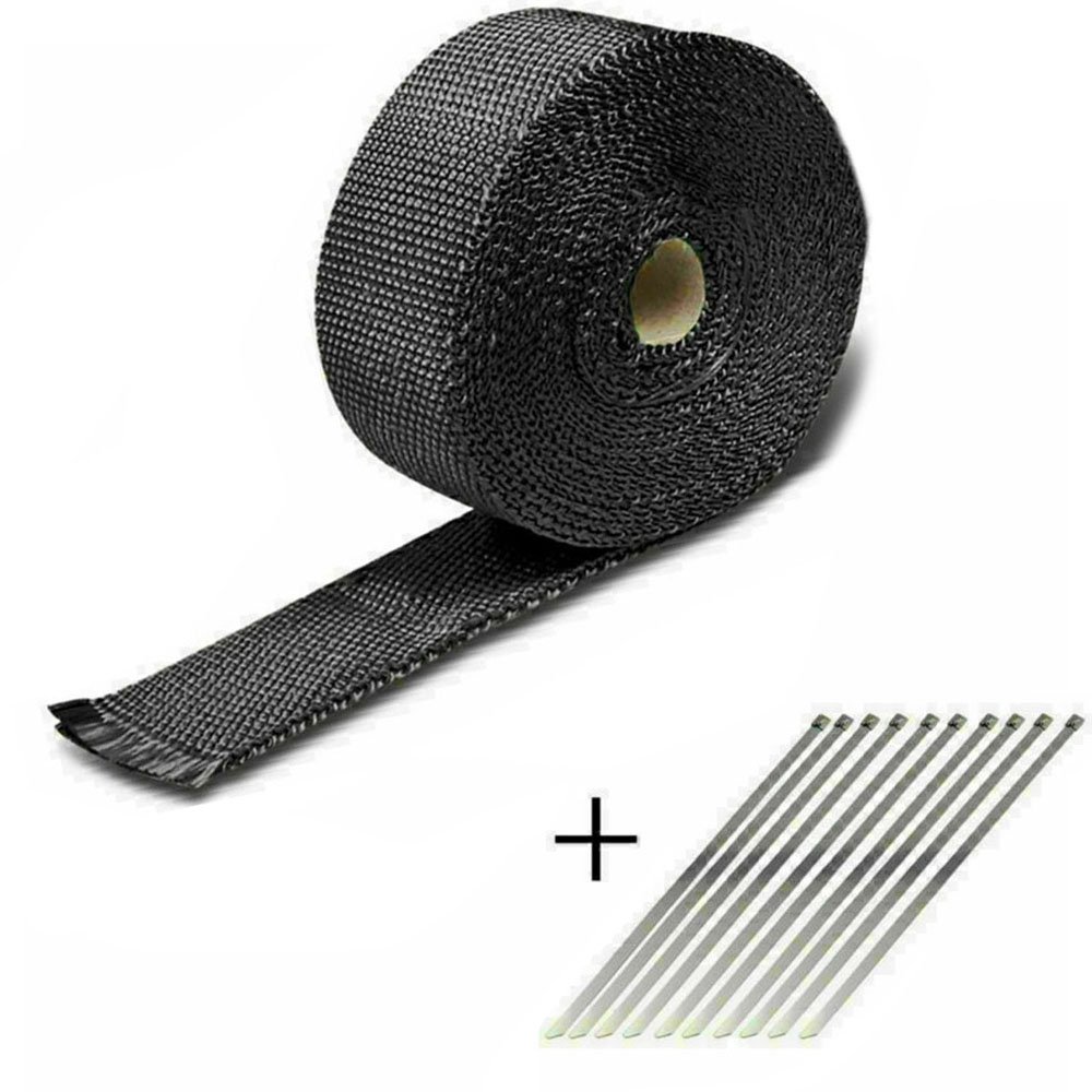 Universal 5M Car Motorcycle Motorbike Shield Exhaust Pipe Bandage Thermal Wrap Insulation Cotton Tape Car Motorcycle Parts