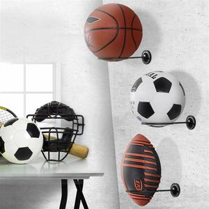Image 3 - 2PCS Wall Mounted Ball Holders Display Racks for Basketball Soccer Football Volleyball Exercise Ball Black Home Organizer Rack