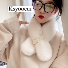 Size 82*11CM 2020 New Plush Scarf Women Autumn/winter Student Bib Hedging Solid Wild/plaid Female Scarves Brand Ksyoocur E05