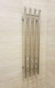 Image 2 - 2020 popaular design de aço inoxidável 304 vertical aquecida toalheiro toalha aquecedor fixado na parede HZ 932A