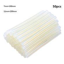 10-50pcs Transparent Hot Melt Glue Stick 7mm / 11mm Strong Viscose Household DIY, Used for Electric Glue Gun Craft Repair Tool