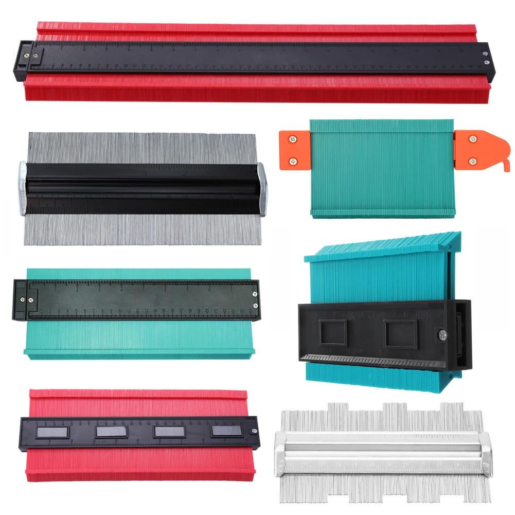 5/6/10/20inch Plastic Contour Gauge Irregular Shaper Profile Copy Gauge Profile Ruler Gauge Duplicator Contour General Tools