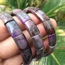 Натуральный розовый Sugilite Южная Африка браслет кристалл прямоугольник бусины стрейч для женщин ювелирные изделия камень «reiki» 10 мм AAAA