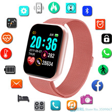 Fashion Stainless Steel SmartWatch Women Full Touch Electronic Sport Ladies Wrist