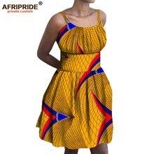 2017 summer women dress AFRIPRIDE private custom off shoulder above-knee length casual batik wax cotton dress plus size A722575  цена 2017