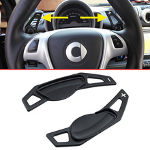 цена на For Smart Fortwo W451 2007-2014 Aluminum Steering Wheel Gearshift Gear Shift Paddle Extend Accessories Black