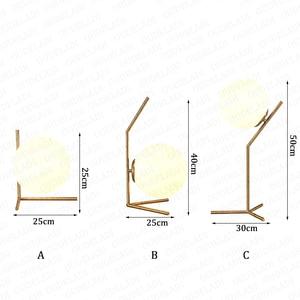 Image 5 - 現代のガラス玉テーブルランプゴールド北欧シンプルな寝室のベッドサイド読書デスクランプ家の装飾 LED テーブルライト Lamparas