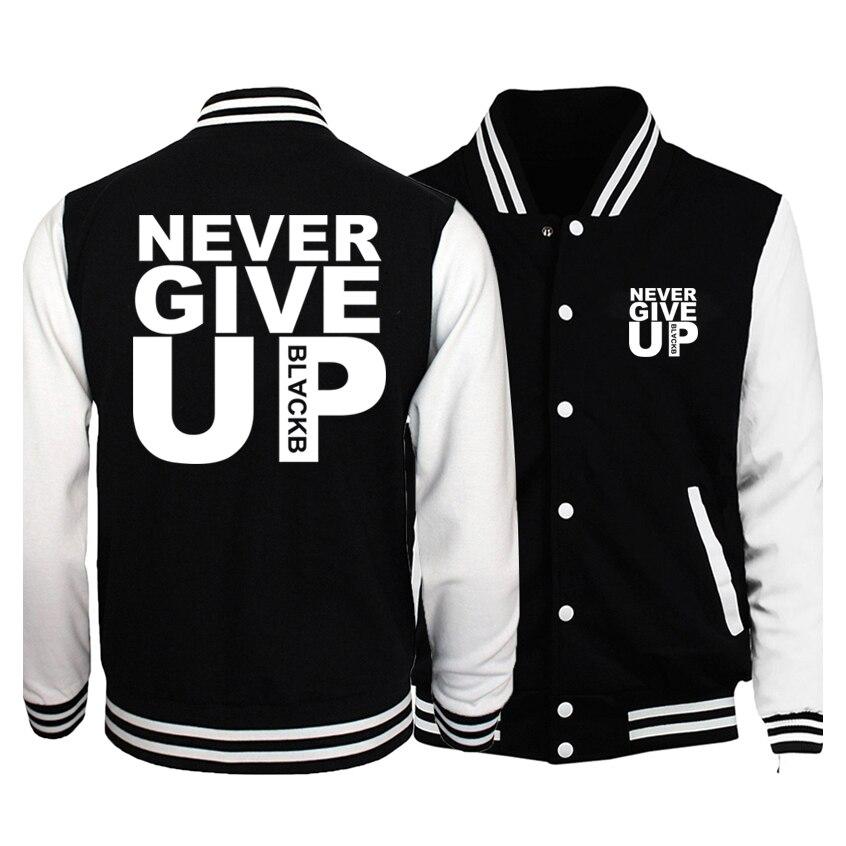 2019 Men New Brand Hoodies Never Give Up Jacket Baseball Clothing Casual Men's Coat Men Hoodies Bomber Jacket Fleece Sweatshirt