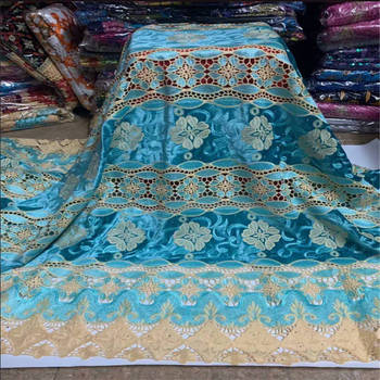 Sky Blue African Lace Fabric High Quality French Tulle Lace Fabric 2020 Nigerian Laces Guipure Embroidery Fabric For Wedding