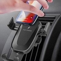 Carregador Sem Fio QI Car Air Vent 11 Gravidade Suporte Do Telefone Do Carro Para o iphone Samsung Huawei Xiaomi Carregamento Rápido Suporte Do Telefone no carro