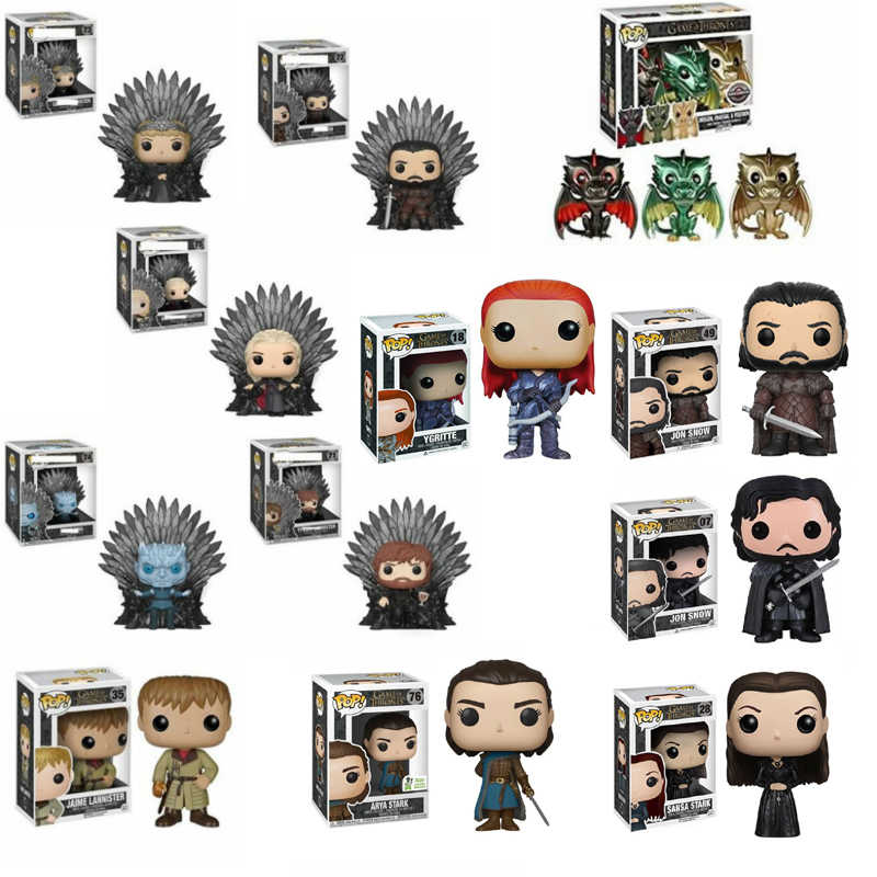 FUNKO POP Game of Thrones SAMWELL TARLY LA MONTAGNA JON SNOW Sansa Stark Modello Figure Collection Model Toy Regali per bambini