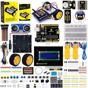 Image 2 - Keyestudio في نهاية المطاف كاتب عدة/سيارة روبوت عدة لاردوينو المخترع الصغير (صفر القائم على التعلم الروبوت اردوينو)