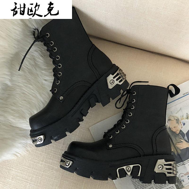 Punk Style Platform Women Ankle Boots