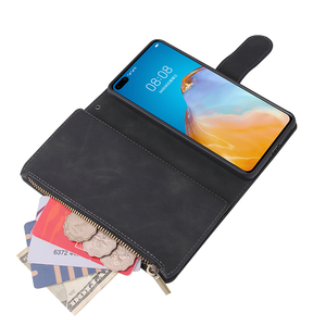 Image 5 - Zipper Wallet Leather Phone Case For Huawei P40 Pro P30 Lite Mate 30 Pro Honor 20 10i P Smart 2019 Flip Case Book Magnetic Case