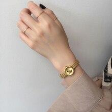 Vintage Gold Vintage Japanese movement maisui watch ins style leisure fashion qu
