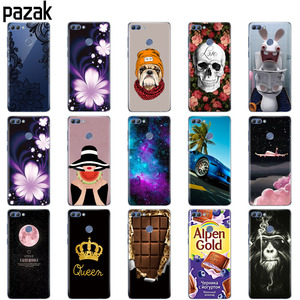 Image 2 - Silicone phone Case For huawei Y9 2018 cases Coque etui bumper shell soft TPU Phone Back cover full 360 Protective