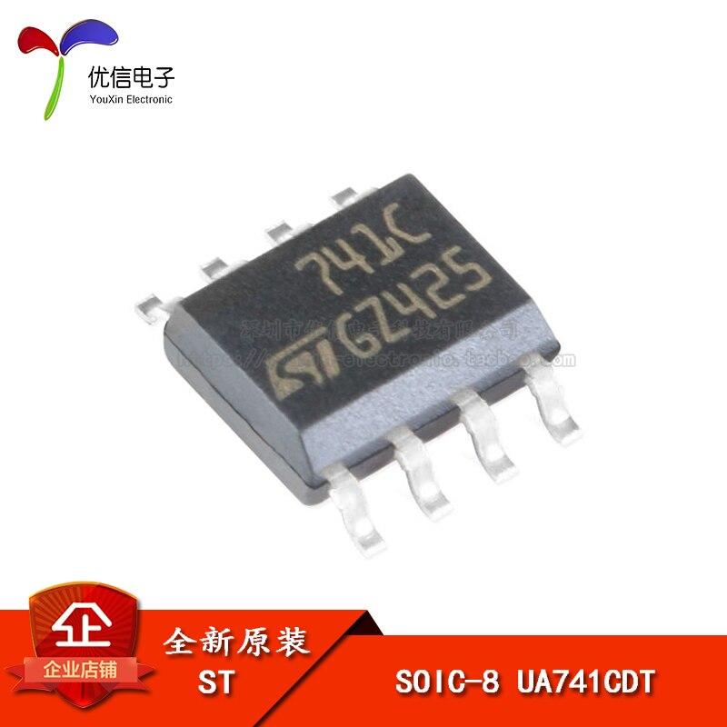 Оригинальные накладные UA741CDT SOIC-8 с одним чипом малой мощности операционный усилитель 1 МГц