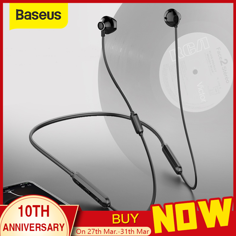 Baseus S11A Bluetooth Earphone Sport Wireless Headphone Wireless Earphones Bluetooth headset for iPhone Xiaomi 9|Bluetooth Earphones & Headphones| |  - AliExpress