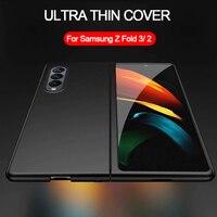 Funda ultradelgada de lujo para Samsung Galaxy Z, funda de teléfono plegable 3, 2 y 5G, de plástico duro mate, delgada, para Galaxy Z, Fold3, Fold2