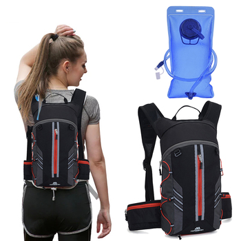 Man Woman Bicycle Backpack Hydration Trail Running Vest Marathon Water Bag