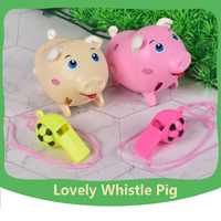 NEW Electric Pet whistle pig voice control induction will run by whistle Lovely pig with flashing ear children's Education toys